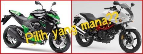 Kawasaki Z250 vs Honda VTR F250