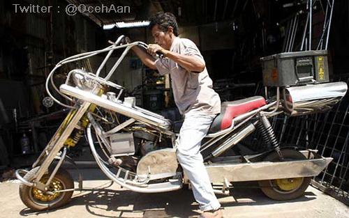 Modif Harley Davidson versi Stainless Steel 1