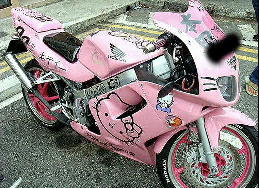 modif motor hello kitty