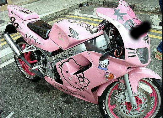 modif motor hello kitty