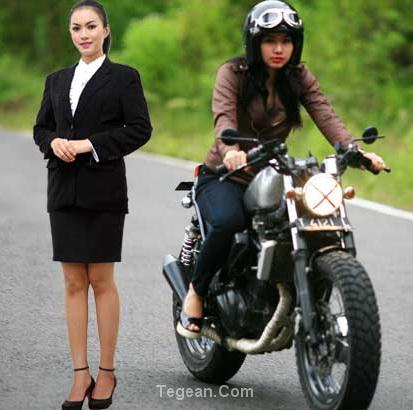 Gadis manis, karyawan cantik, rider ayu