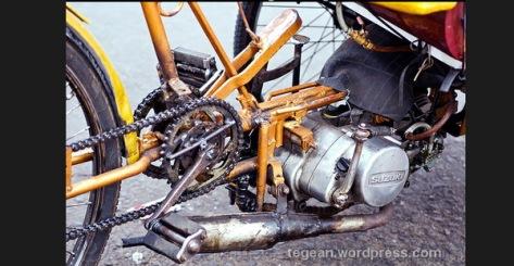 modifikasi mesin becak motor