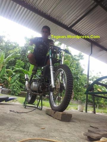 Modifikasi motor bebek jadi trail (1)