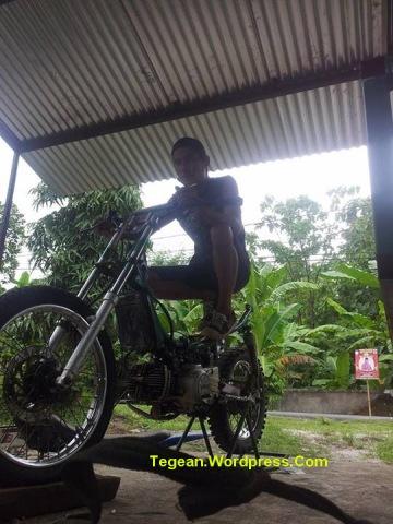 Modifikasi motor bebek jadi trail (2)