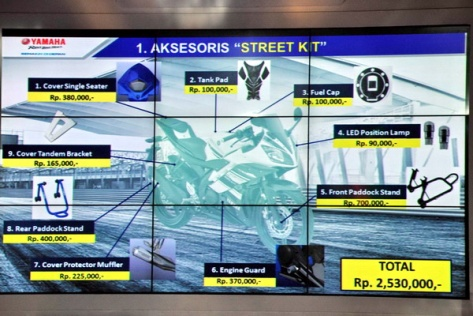 aksesoris street kit yamaha r15