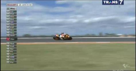 Dani Pedrosa berhasil overtake Jorge
