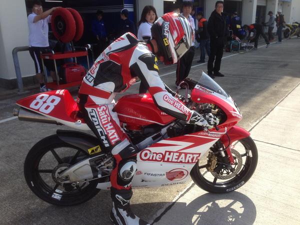Gerry Salim siap berkompetisi dalam ajang All Japan Championship kelas Moto3