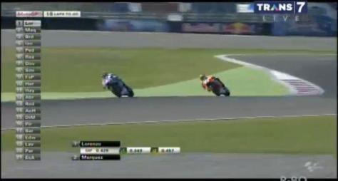 Marquez memberi perlawanan terhadap Lorenzo