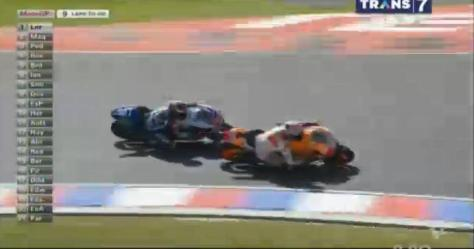 Marquez overtaking lorenzo