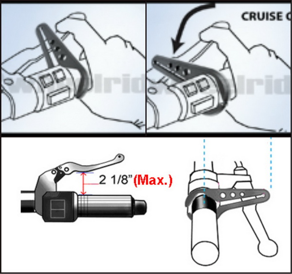 Go Cruise Adjustable Trottle Lock