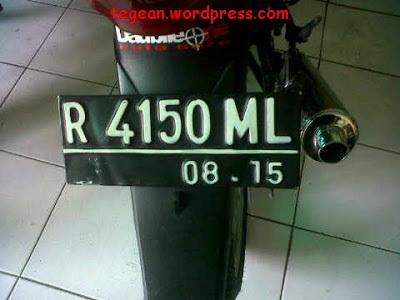 Plat R 4150 ML purbalingga