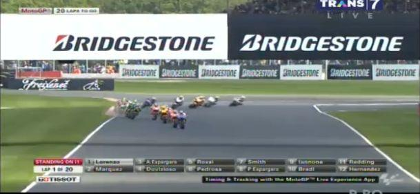 Lap 1. Marquez posisi 2. Kebiasaan sih startnya santai aja dia..