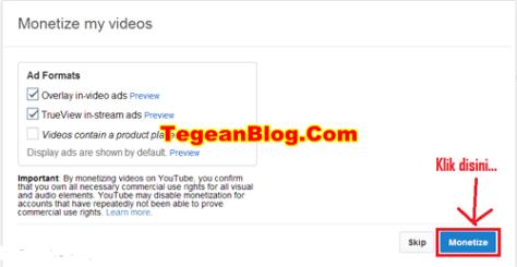 Cara Daftar Adsense di Youtube 3