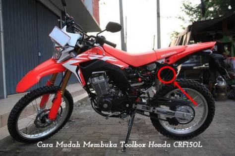 Cara Membuka Toolbox Honda CRF150L