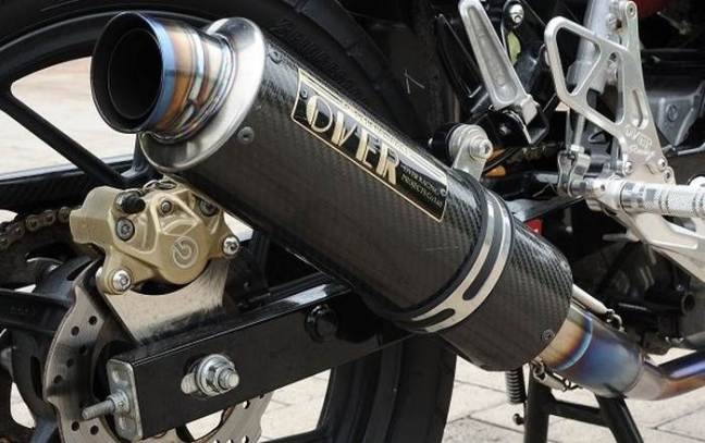 Knalpot Titanium full system dengan silencer karbon